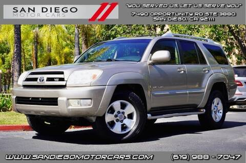 2003 Toyota 4Runner for sale at San Diego Motor Cars LLC in San Diego CA