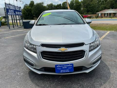 2015 Chevrolet Cruze for sale at QUALITY PREOWNED AUTO in Houston TX