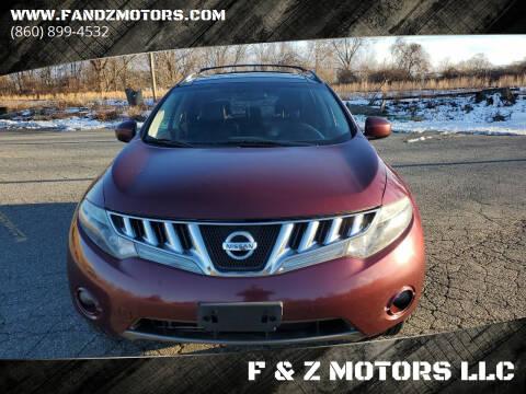 2010 Nissan Murano for sale at F & Z MOTORS LLC in Waterbury CT