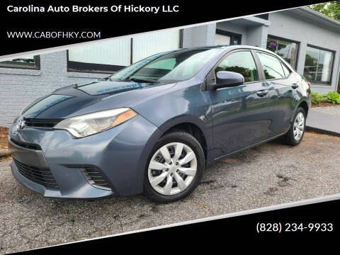 2015 Toyota Corolla for sale at Carolina Auto Brokers of Hickory LLC in Newton NC