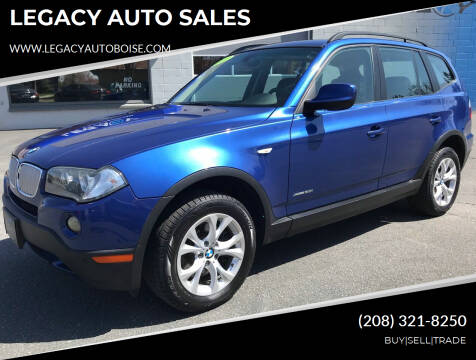 2010 BMW X3 for sale at LEGACY AUTO SALES in Boise ID