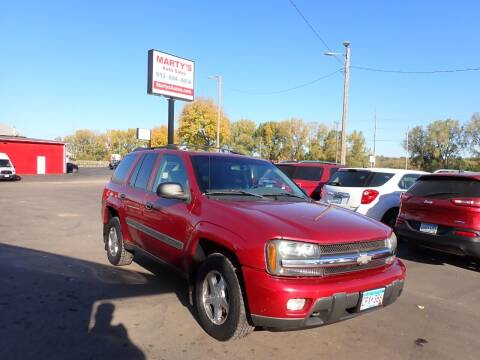 2002 Chevrolet TrailBlazer for sale at Marty's Auto Sales in Savage MN