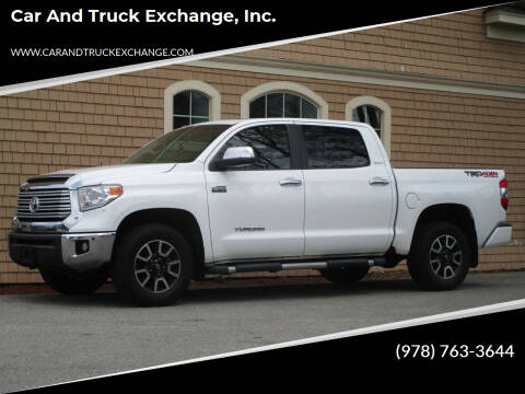 2016 Toyota Tundra for sale at Car and Truck Exchange, Inc. in Rowley MA