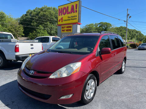 2008 Toyota Sienna for sale at No Full Coverage Auto Sales in Austell GA