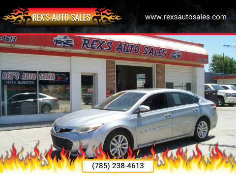 2015 Toyota Avalon for sale at Rex's Auto Sales in Junction City KS