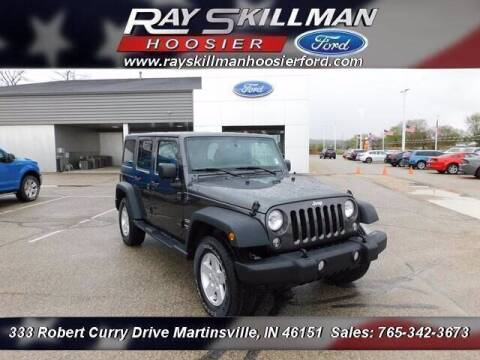 2017 Jeep Wrangler Unlimited for sale at Ray Skillman Hoosier Ford in Martinsville IN