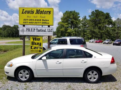 2008 Chevrolet Impala for sale at Lewis Motors LLC in Deridder LA