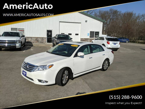 2011 Toyota Avalon for sale at AmericAuto in Des Moines IA