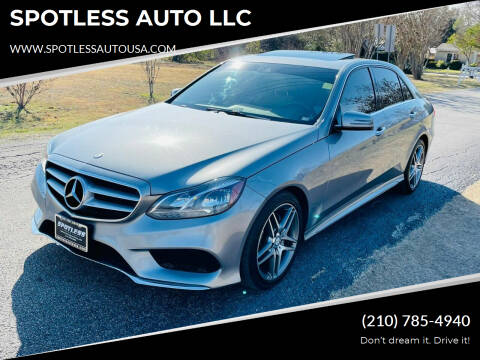 2014 Mercedes-Benz E-Class for sale at SPOTLESS AUTO LLC in San Antonio TX