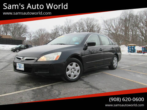2006 Honda Accord for sale at Sam's Auto World in Roselle NJ
