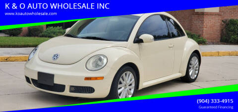 2008 Volkswagen New Beetle for sale at K & O AUTO WHOLESALE INC in Jacksonville FL