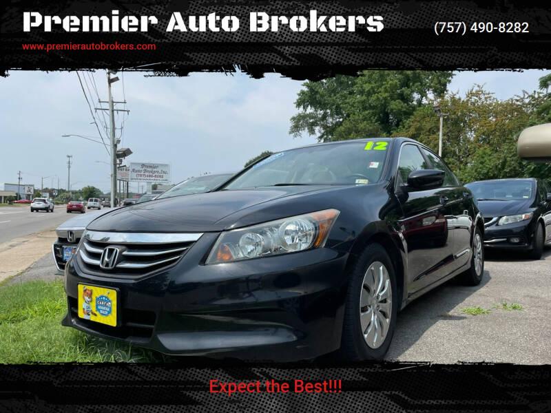 2012 Honda Accord for sale at Premier Auto Brokers in Virginia Beach VA