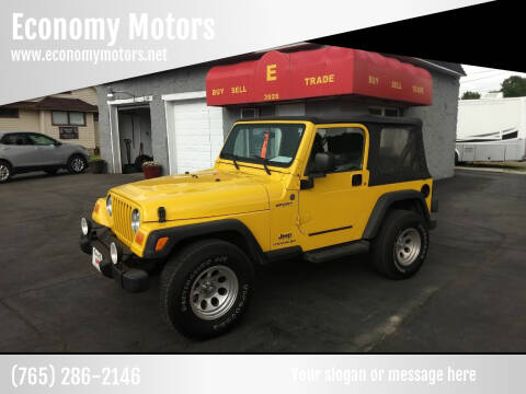 2004 Jeep Wrangler for sale at Economy Motors in Muncie IN