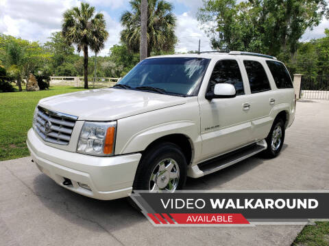 2002 Cadillac Escalade for sale at Lake Helen Auto in Lake Helen FL