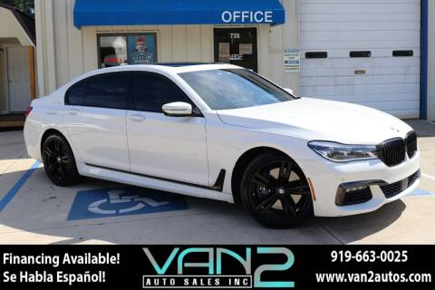2016 BMW 7 Series for sale at Van 2 Auto Sales Inc in Siler City NC