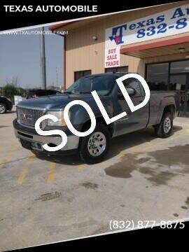 2009 GMC Sierra 1500 for sale at TEXAS AUTOMOBILE in Houston TX