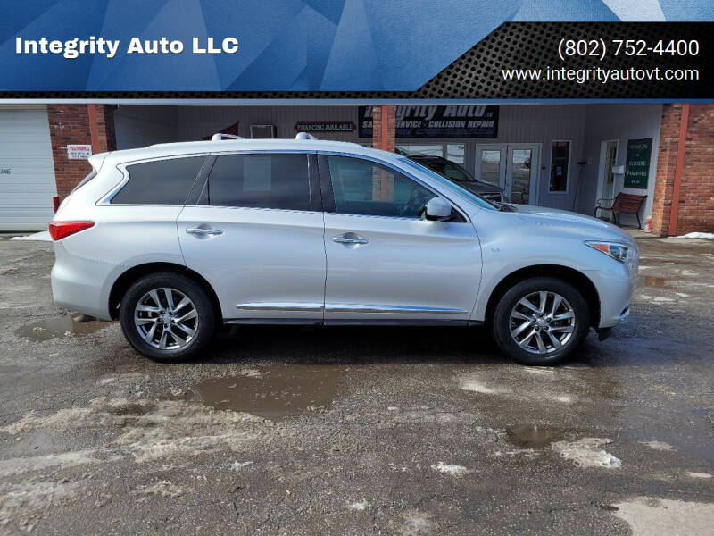 2014 Infiniti QX60 for sale at Integrity Auto LLC - Integrity Auto 2.0 in St. Albans VT