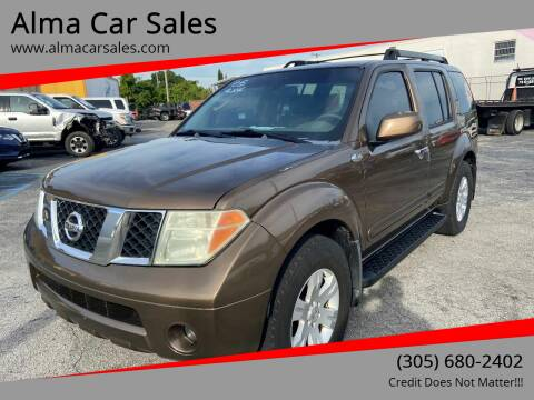 2005 Nissan Pathfinder for sale at Alma Car Sales in Miami FL