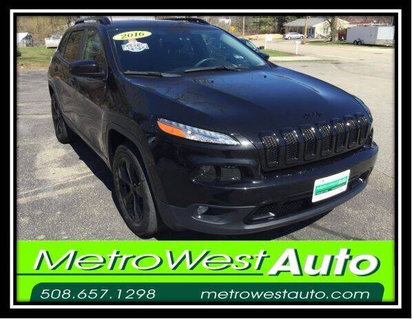 2016 Jeep Cherokee for sale at Metro West Auto in Bellingham MA