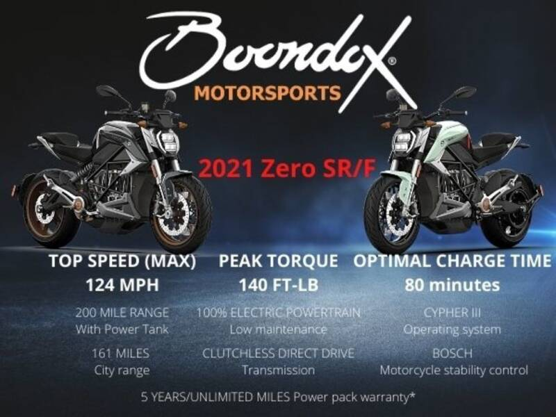 2021 Zero SR/F Premium for sale at Boondox Motorsports in Caledonia MI