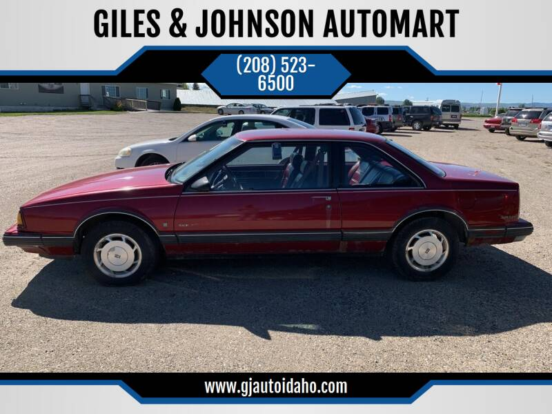 1990 Oldsmobile Eighty-Eight Royale for sale at GILES & JOHNSON AUTOMART in Idaho Falls ID