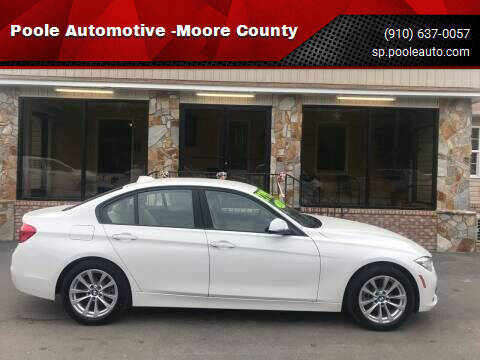 2018 BMW 3 Series for sale at Poole Automotive in Laurinburg NC