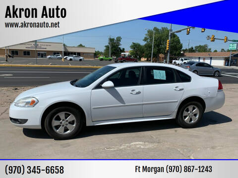 2011 Chevrolet Impala for sale at Akron Auto - Fort Morgan in Fort Morgan CO