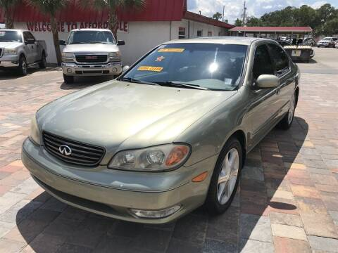 2002 Infiniti I35 for sale at Affordable Auto Motors in Jacksonville FL