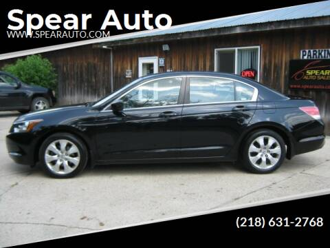2008 Honda Accord for sale at Spear Auto Sales in Wadena MN