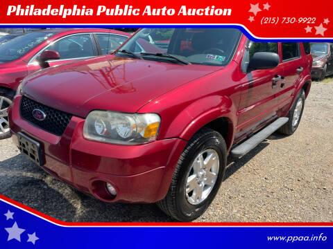 2007 Ford Escape for sale at Philadelphia Public Auto Auction in Philadelphia PA