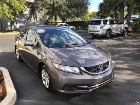 2014 Honda Civic for sale at FLORIDA CAR TRADE LLC in Davie FL