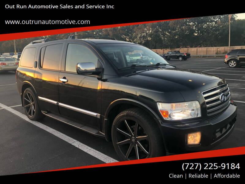 2007 Infiniti QX56 for sale at Out Run Automotive Sales and Service Inc in Tampa FL