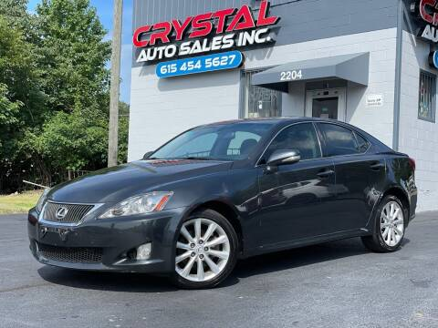 2009 Lexus IS 250 for sale at Crystal Auto Sales Inc in Nashville TN