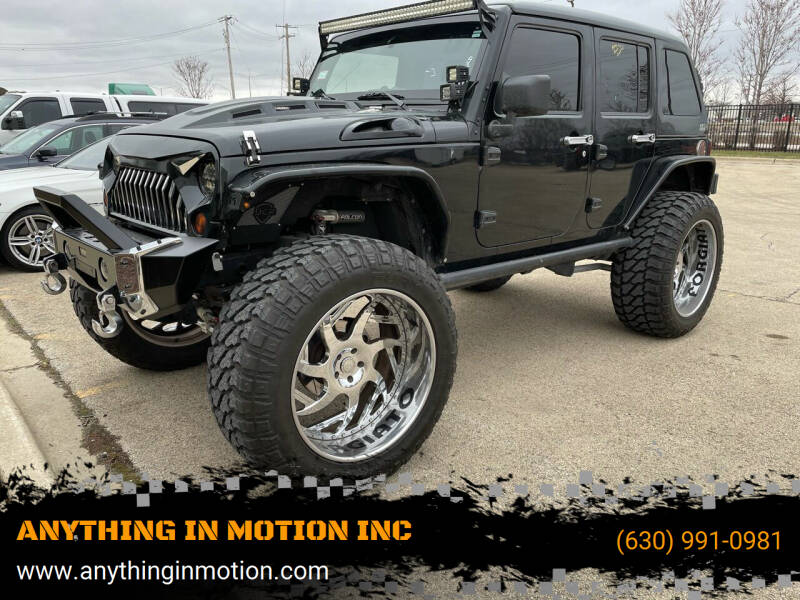 2012 Jeep Wrangler Unlimited for sale at ANYTHING IN MOTION INC in Bolingbrook IL