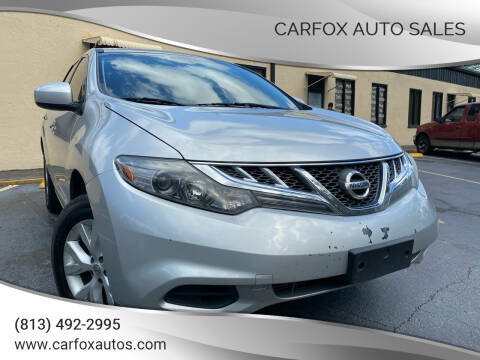 2014 Nissan Murano for sale at Carfox Auto Sales in Tampa FL