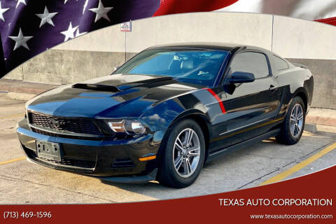 2012 Ford Mustang for sale at Texas Auto Corporation in Houston TX