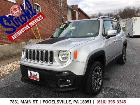 2015 Jeep Renegade for sale at Strohl Automotive Services in Fogelsville PA