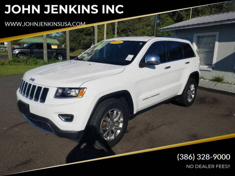 2016 Jeep Grand Cherokee for sale at JOHN JENKINS INC in Palatka FL