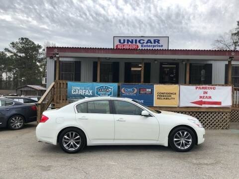 2008 Infiniti G35 for sale at Unicar Enterprise in Lexington SC