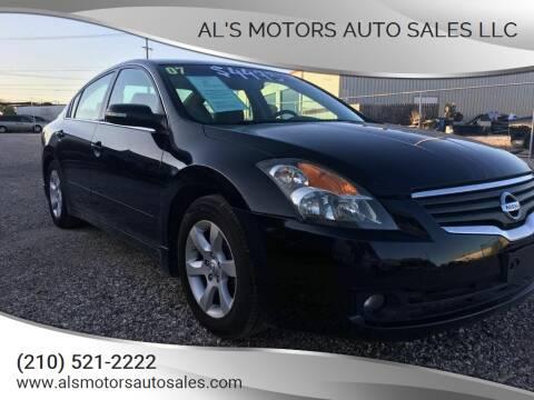 2007 Nissan Altima for sale at Al's Motors Auto Sales LLC in San Antonio TX