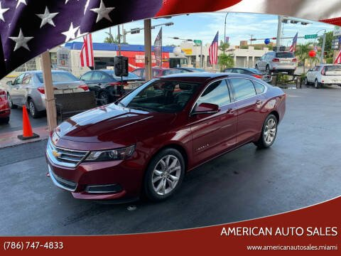 2017 Chevrolet Impala for sale at American Auto Sales in Hialeah FL