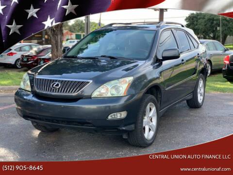 2005 Lexus RX 330 for sale at Central Union Auto Finance LLC in Austin TX