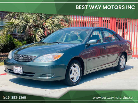 2002 Toyota Camry for sale at BEST WAY MOTORS INC in San Diego CA
