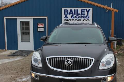 2012 Buick Enclave for sale at Bailey & Sons Motor Co in Lyndon KS