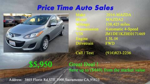 2014 Mazda MAZDA2 for sale at PRICE TIME AUTO SALES in Sacramento CA