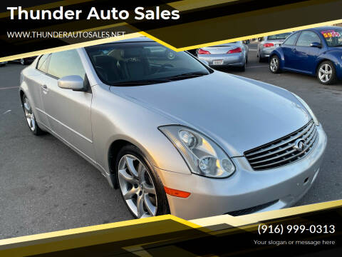 2006 Infiniti G35 for sale at Thunder Auto Sales in Sacramento CA