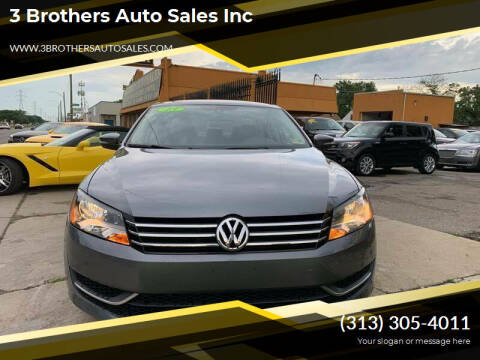 2013 Volkswagen Passat for sale at 3 Brothers Auto Sales Inc in Detroit MI