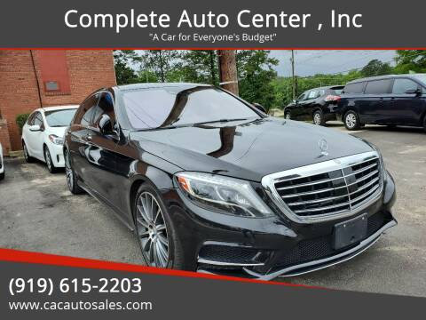 2015 Mercedes-Benz S-Class for sale at Complete Auto Center , Inc in Raleigh NC