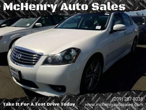 2010 Infiniti M35 for sale at McHenry Auto Sales in Modesto CA