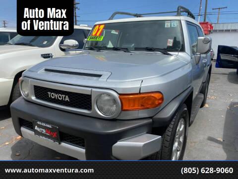 2007 Toyota FJ Cruiser for sale at Auto Max of Ventura in Ventura CA
